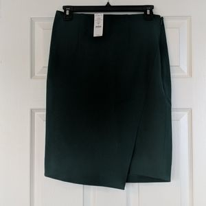 WHBM forest green pencil skirt